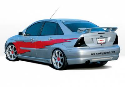Wings West - Ford Focus 4DR Wings West W-Type Side Skirts - Left & Right - 890483L&R