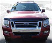 AVS - Ford Explorer AVS Bugflector II Hood Shield - Smoke - 25314
