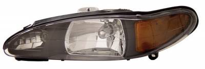 Anzo - Ford Escort Anzo Headlights - Crystal & Black - 111033