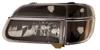 Anzo - Ford Explorer Anzo Headlights - Crystal with Amber Corner Black - 111039