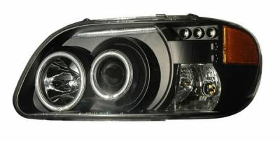 Anzo - Ford Explorer Anzo Projector Headlights - Black & Clear & Amber - 1PC - 111132
