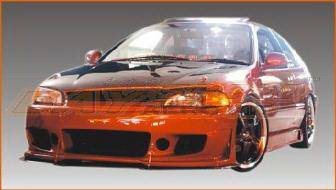 Bayspeed. - Honda Civic 2DR Bay Speed BD2 Style Front Bumper - 8215BD2