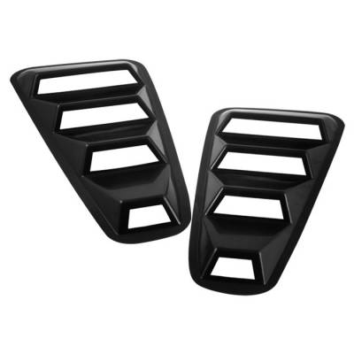 Spyder - Ford Mustang Spyder Quarter Window Louver - Black - HS-WL-FM05