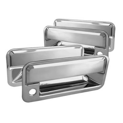 Spyder - Chevrolet Suburban Spyder Door Handle - With Passenger Side Key Hole - Chrome - CA-DH-CT95-WP