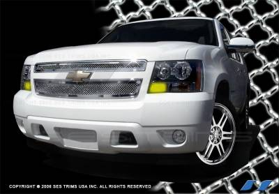 SES Trim - Chevrolet Suburban SES Trim Chrome Plated Stainless Steel Mesh Grille - MG145