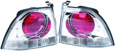 APC - Honda Accord APC Euro Taillights with Chrome Housing - 404141TLR