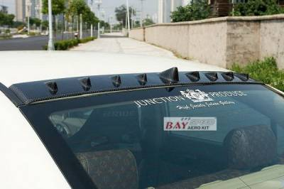 Bayspeed. - Honda Civic Bay Speed V Style Carbon Roof Spoiler - CF3038V-RS