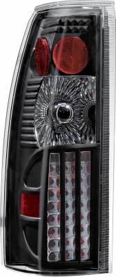 APC - Chevrolet Tahoe APC Diamond Cut Taillights with Black Housing - 407507TLB