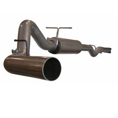 aFe - GMC Sierra aFe Large Bore HD Cat-Back Exhaust System Aluminum - 49-14001