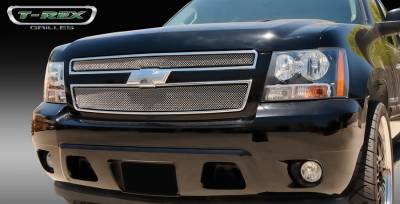 T-Rex - Chevrolet Suburban T-Rex Sport Series Formed Mesh Grille - Stainless Steel - Triple Chrome Plated - 2PC - 44051