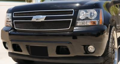 T-Rex - Chevrolet Suburban T-Rex Sport Series Formed Mesh Grille - All Black Powdercoat - 2PC - 46051