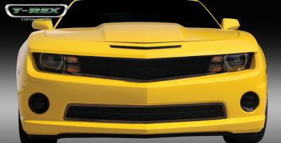 T-Rex - Chevrolet Camaro T-Rex Upper Class Mesh Grille - All Black with Formed Mesh - 1PC Custom Design Full Opening - Covers Signals - No Logo Openings - 51029