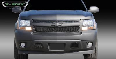 T-Rex - Chevrolet Suburban T-Rex Upper Class Mesh Grille - All Black - 2PC Style - 51051
