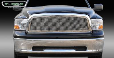 T-Rex - Dodge Ram T-Rex Upper Class Polished Stainless Mesh Grille - Full Open - 1PC - 54457