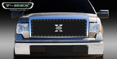 T-Rex - Ford F150 T-Rex X-Metal Series Studded Main Grille - Custom 1PC Opening - All Black - 6715681