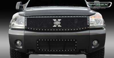 T-Rex - Nissan Armada T-Rex X-Metal Series Studded Main Grille - All Black - Custom 1PC - 6717791