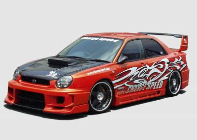 Chargespeed - Subaru Impreza Chargespeed Wide Body Super GT Side Skirts with Cover - Pair - CS978SSW