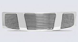 Street Scene - Nissan Armada Street Scene Chrome Grille Shell with 8mm Polished Billet Grille - 950-75527