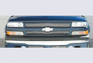 Street Scene - Chevrolet Silverado Street Scene Paintable Grille Shell with Bow Tie Mount & Chrome Grille Insert - 950-78560