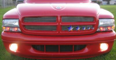 APS - Dodge Dakota APS Billet Grille - Upper - Stainless Steel - D85334S