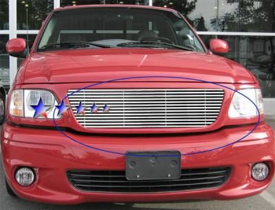 APS - Ford F150 APS Phat Grille - Honeycomb Style without Logo Opening - Upper - Stainless Steel - F65712T