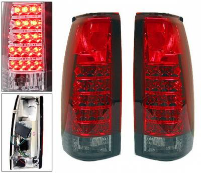 4 Car Option - Chevrolet C10 4 Car Option LED Altezza Taillights - Red & Smoke - LT-GC88RSM-LED
