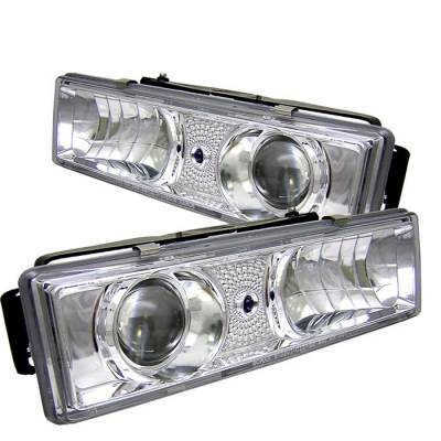 Spyder - Chevrolet Suburban Spyder Projector Headlights - Chrome - 444-CCK88-C