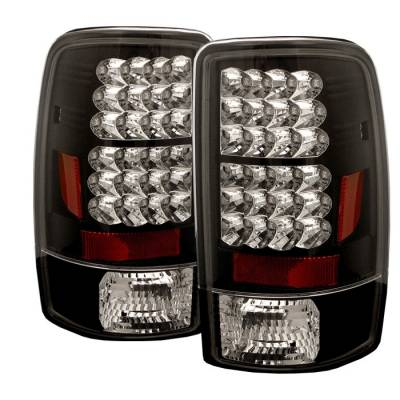 Spyder - GMC Denali Spyder LED Taillights - Black - 111-CD00-LED-BK