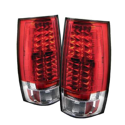 Spyder - Chevrolet Suburban Spyder LED Taillights - Red Clear - 111-CSUB07-LED-RC
