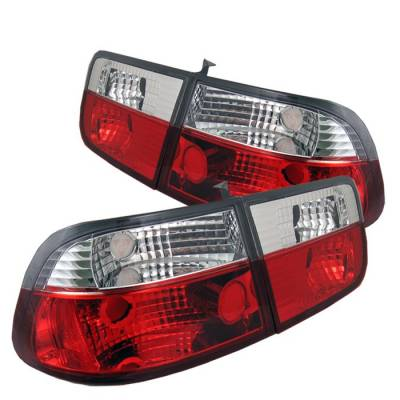 Spyder - Honda Civic 2DR Spyder Crystal Taillights - Red Clear - 111-HC96-2D-CRY-RC