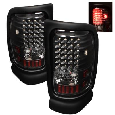 Spyder - Dodge Ram Spyder LED Taillights - Black - ALT-ON-DRAM94-LED-BK