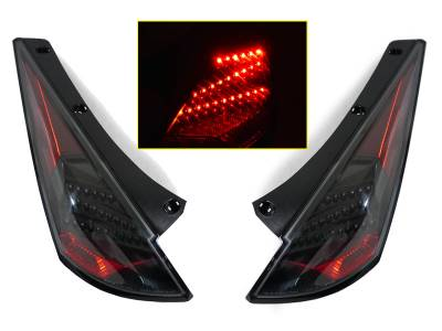 Depo - Nissan 350Z Dm Black Led DEPO Tail Lights