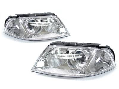 Depo - Volkswagen B5.5 Passat Us Spec Am Projector DEPO Headlight Set Without Bulbs