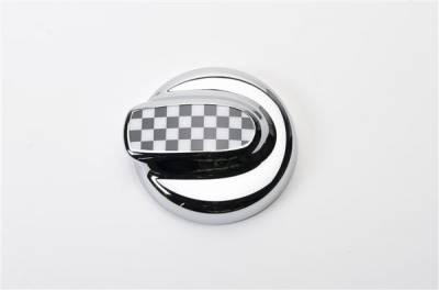 Putco - Mini Cooper Putco Fuel Tank Door Cover - Checkered Flag - 400528