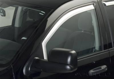Putco - Dodge Ram Putco Element Chrome Window Visors - 480101