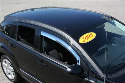 Putco - Dodge Caliber Putco Element Chrome Window Visors - 480140