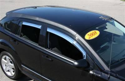 Putco - Dodge Caliber Putco Element Chrome Window Visors - 480141