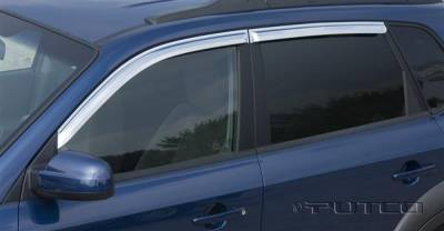Putco - Hyundai Santa Fe Putco Element Chrome Window Visors - 480150