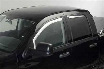 Putco - Dodge Ram Putco Element Chrome Window Visors - 480178