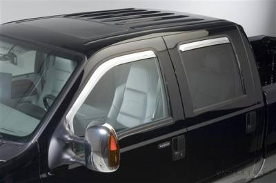 Putco - Ford F250 Superduty Putco Element Chrome Window Visors - 480209