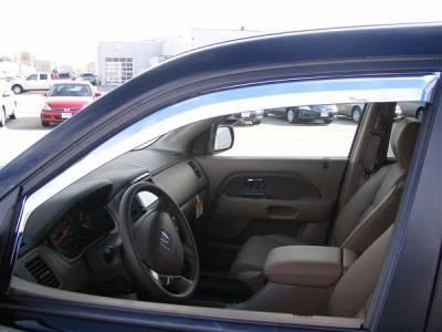 Putco - Honda Pilot Putco Element Chrome Window Visors - 480401