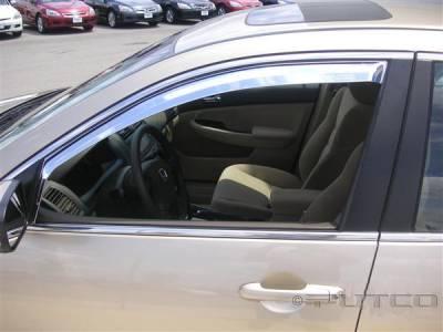 Putco - Honda Accord 4DR Putco Element Chrome Window Visors - 480422