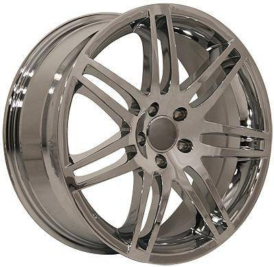 EuroT - 18 580 Chrome - 4 Wheel Set