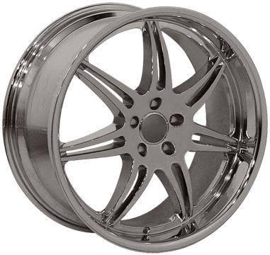 EuroT - 20 Inch Chrome or Black - 4 Wheel Set