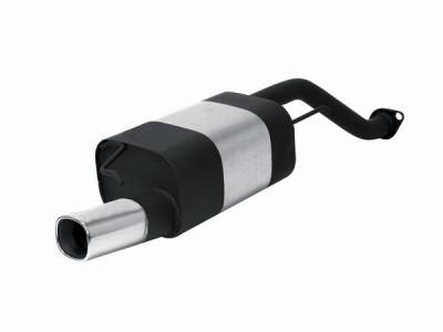 Remus - Honda Civic Remus Rear Silencer with Exhaust Tip - Square - 254095 0501
