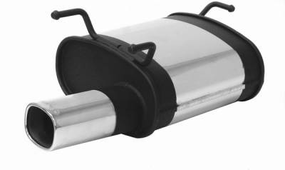 Remus - Toyota Corolla Remus Rear Silencer with Exhaust Tip - Square - 903093 0501