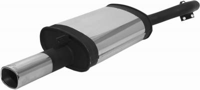 Remus - Mitsubishi Galant Remus Rear Silencer with Exhaust Tip - Square - 556097 0501