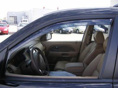 Putco - Honda Pilot Putco Element Tinted Window Visors - 580401