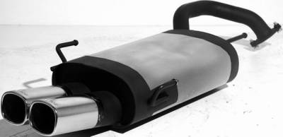 Remus - Toyota Celica Remus Rear Silencer with Dual Exhaust Tips - Square - 906094 0502