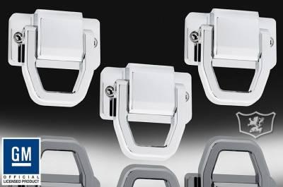 Defenderworx - Hummer H3 Defenderworx Tow Hooks - Smooth - Set of 3 - Chrome - H3PPC05002